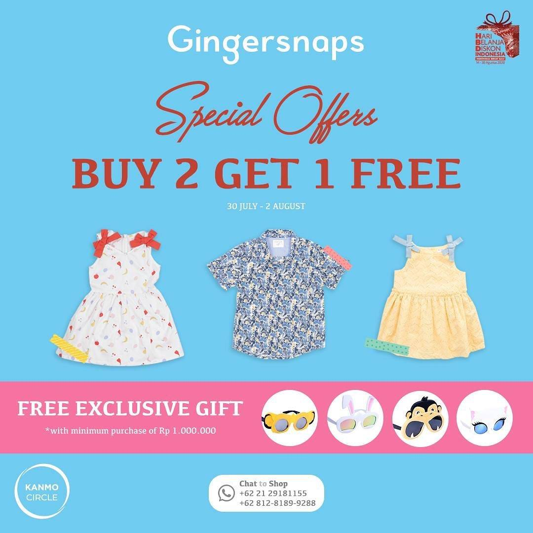 Diskon Promo Gingersnaps Special Offer Buy 2 Get 1 Free