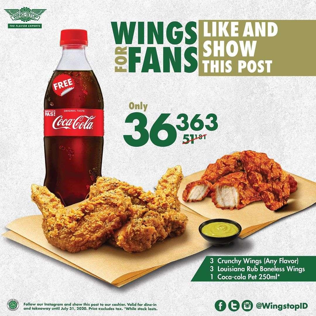 Diskon Wingstop Promo Wings For Fans - Rp.36.353