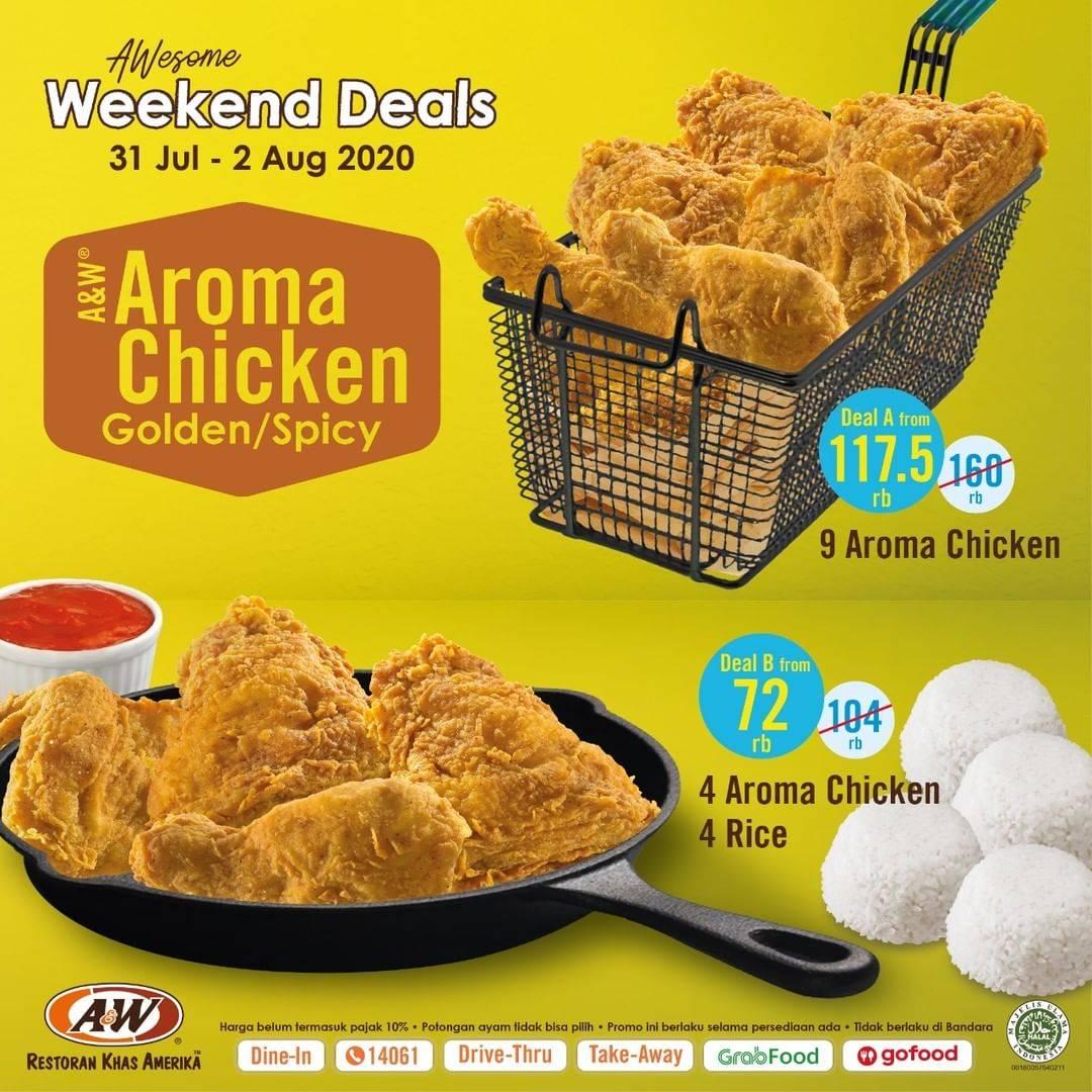 Diskon Promo A&W Restaurant Awesome Weekend Deals Paket Dengan Harga Mulai Dari Rp. 72.000