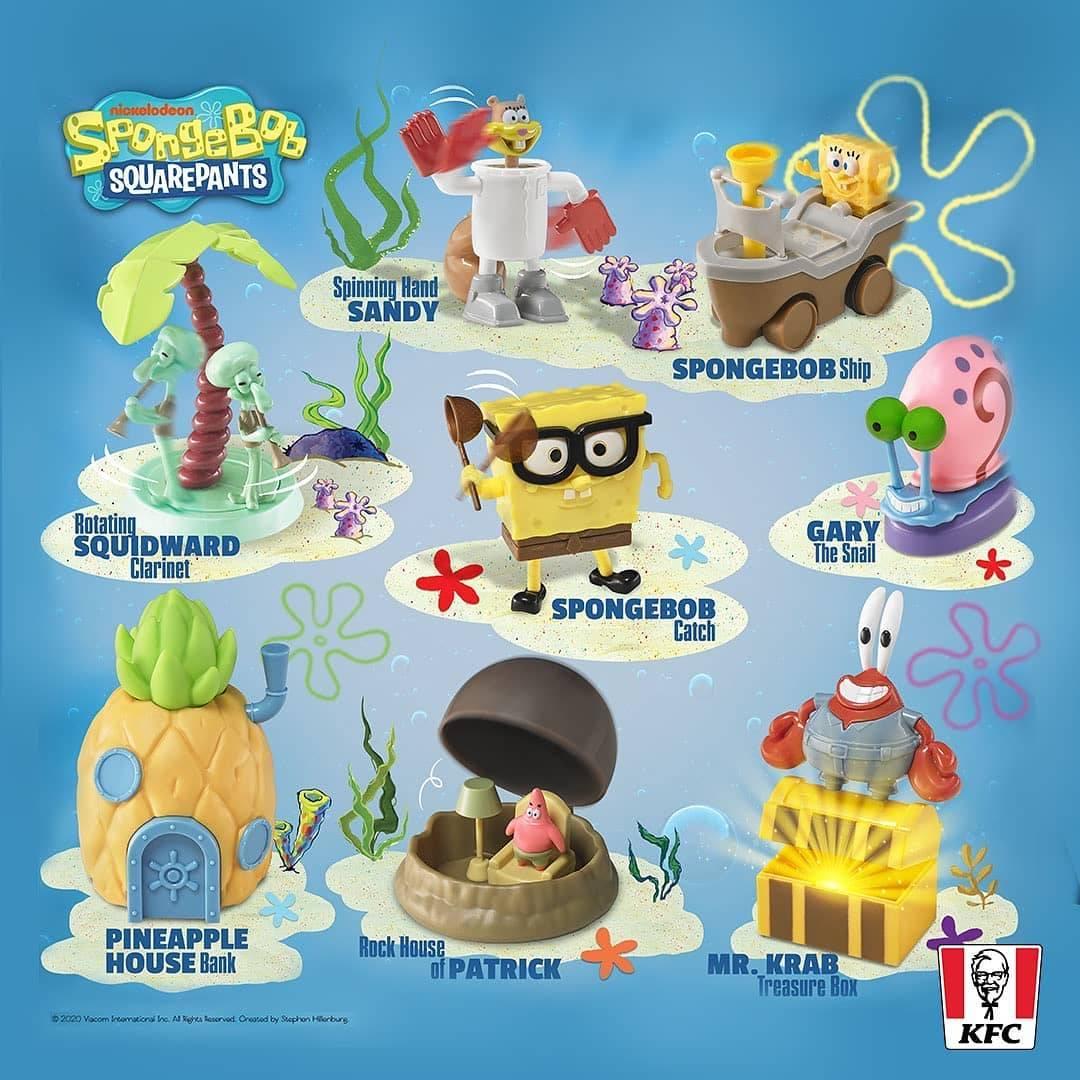 Diskon Promo KFC Gratis Mainan Spongebob Squarepants Setiap Pembelian Chaki Kids Meal