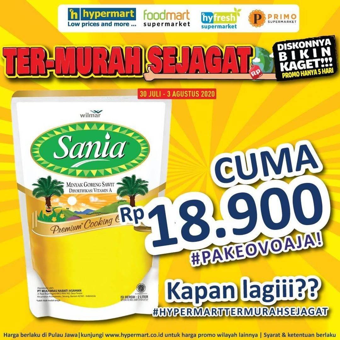Diskon Promo Hypermart Minyak Goreng Sania Cuma Rp. 18.900