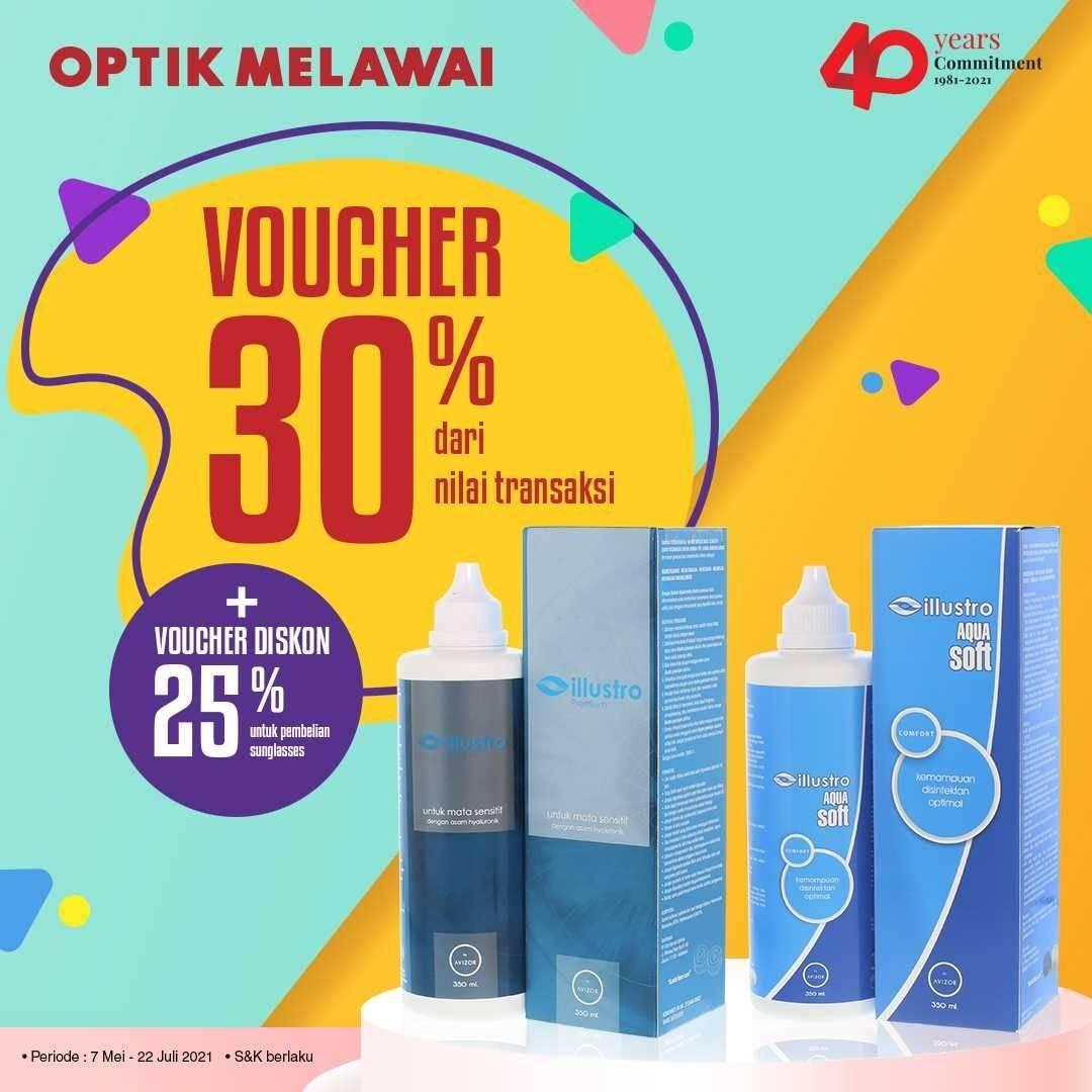 Diskon Optik Melawai Voucher Discount 30% Off + 25% Off On Illustro Selected Products