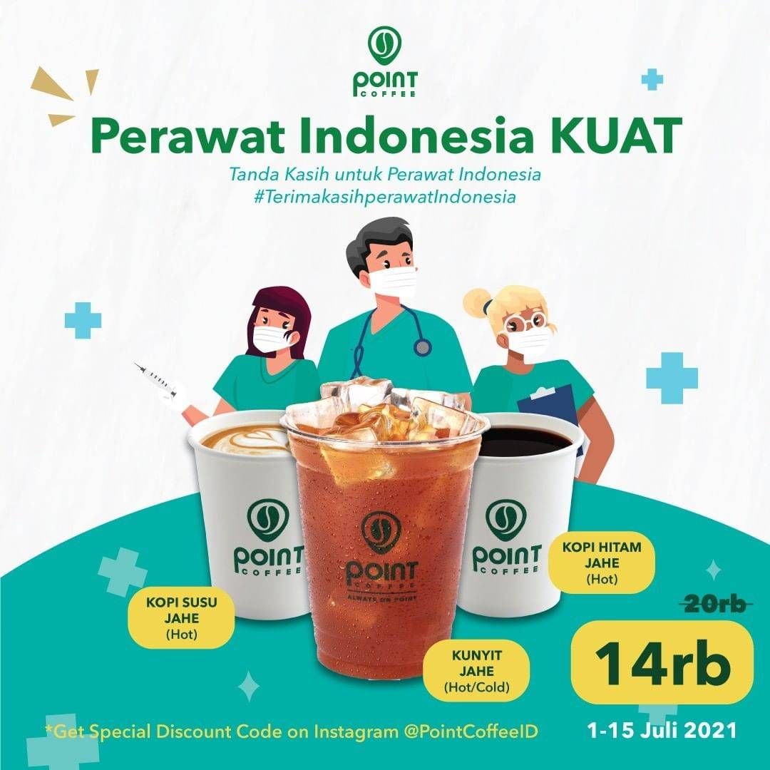 Diskon Point Coffee Promo Khusus Tenaga Kesehatan Minuman Pilihan Hanya Rp. 14.000
