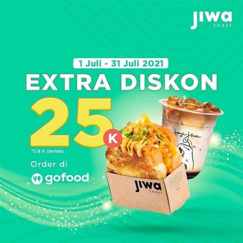 Promo diskon Jiwa Toast Promo Bulan Juli