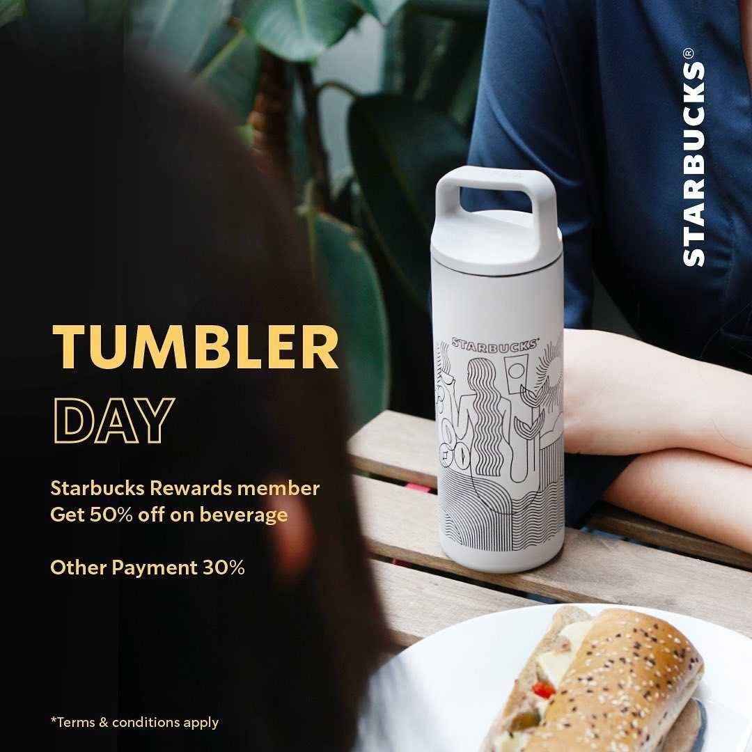 Promo diskon Starbucks Get Your Barista Only For Rp. 50.000 + Tumbler Day