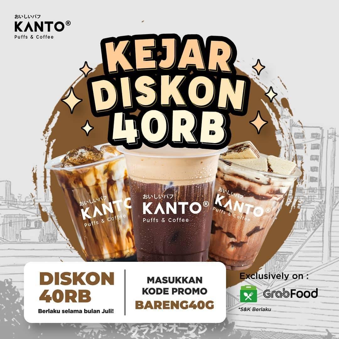 Diskon Kopi Kanto Diskon Rp. 40.000 Dengan GrabFood