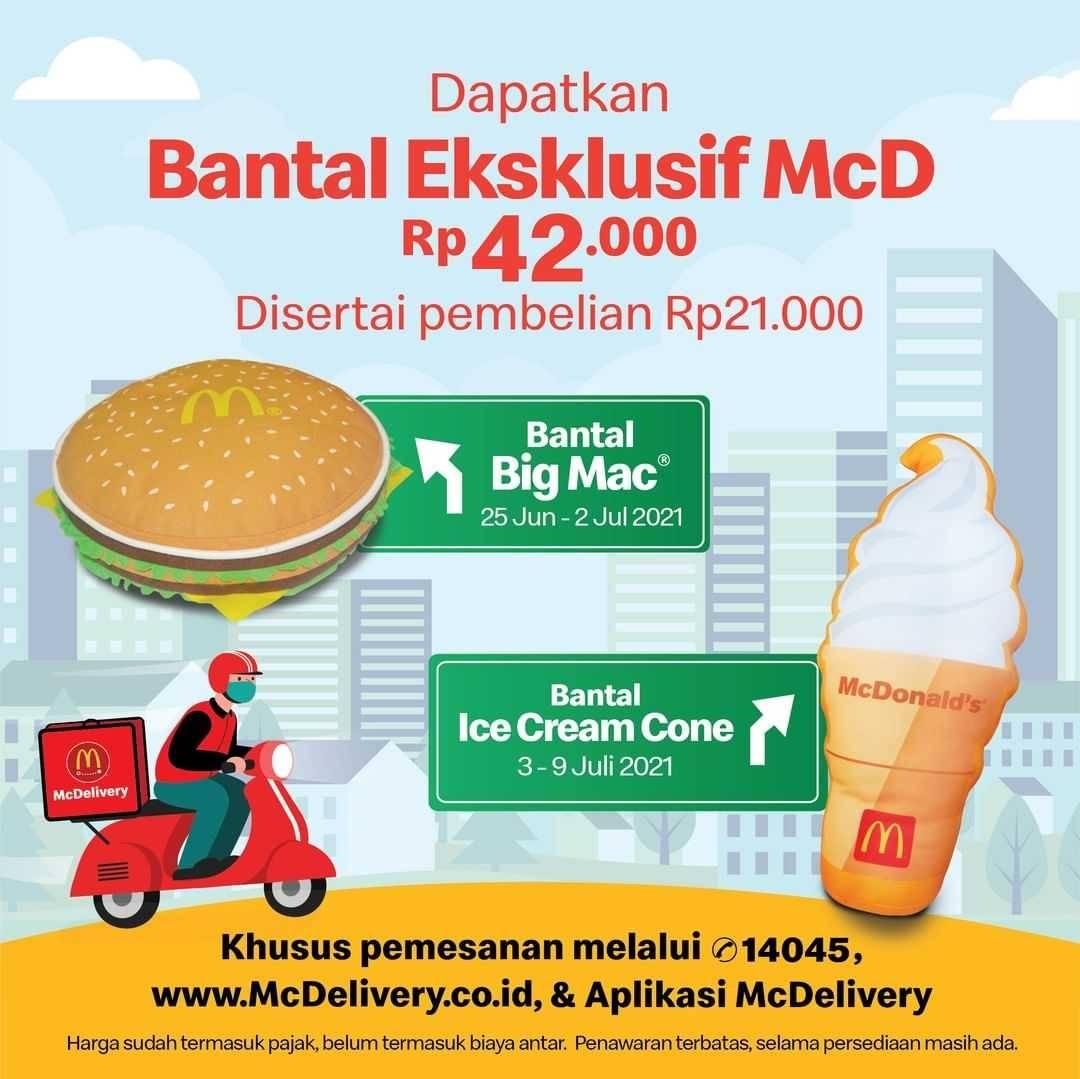 Diskon McDonalds Promo Bantal Eksklusif Hanya Rp. 42.000 + Pembelian Rp. 21.000