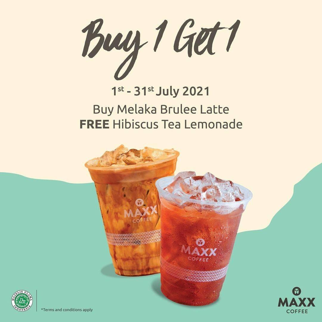 Diskon Maxx Coffee Buy 1 Get 1 Free Beverages