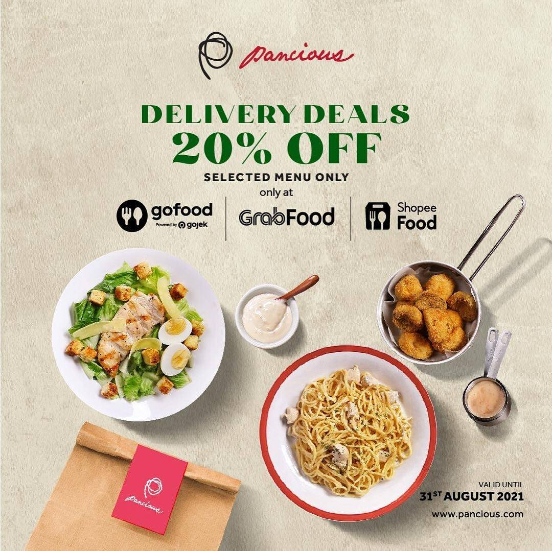 Diskon Pancious Delivery Deals Discount 20% Off