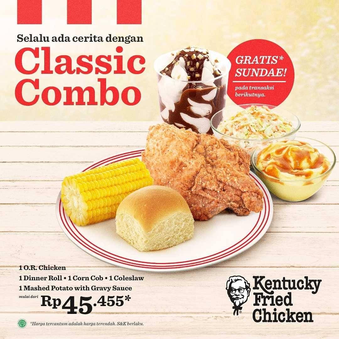 Diskon KFC Promo Classic Combo Hanya Rp. 45.455