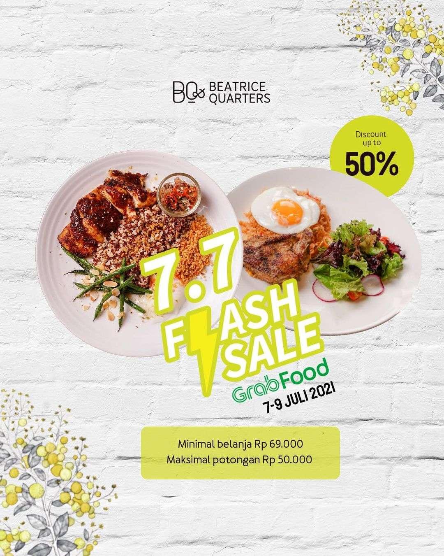 Diskon Beatrice Quarters 7.7 Flash Sale On GrabFood