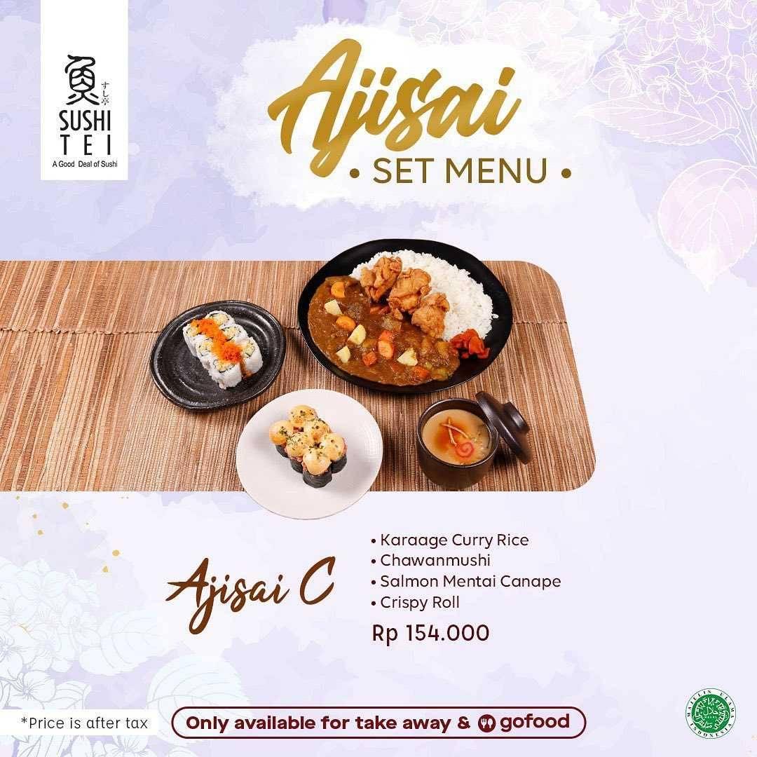 Promo diskon Sushi Tei Promo Ajisai Set Menu Dengan GoFood