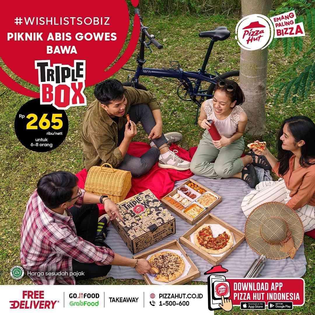 Diskon Pizza Hut Promo Triple Box Hanya Rp. 265.000