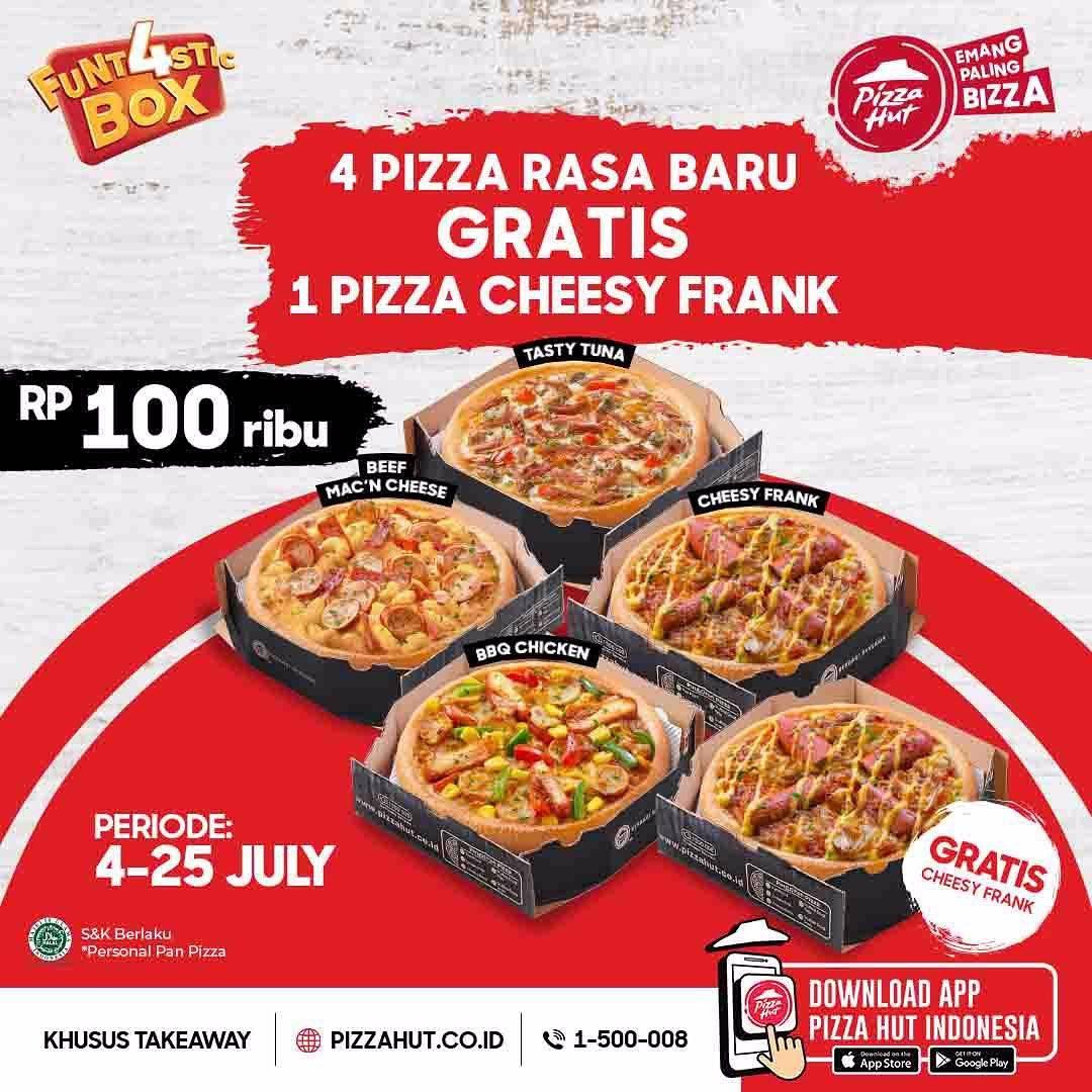 Diskon Pizza Hut Promo Funt4stic Box Beli 4 Pizza Gratis 1 Pizza