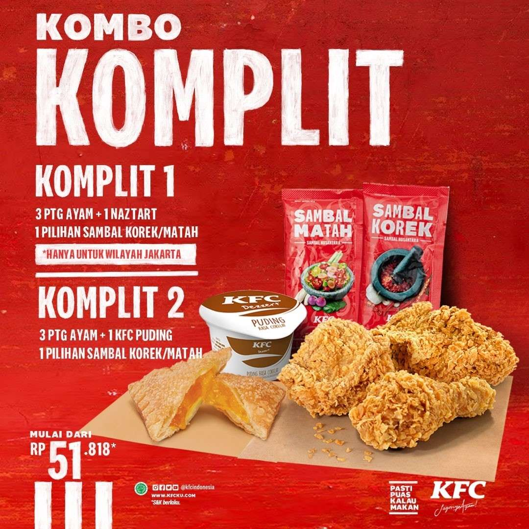 Diskon KFC Promo Kombo Komplit Mulai Dari Rp. 51 Ribuan