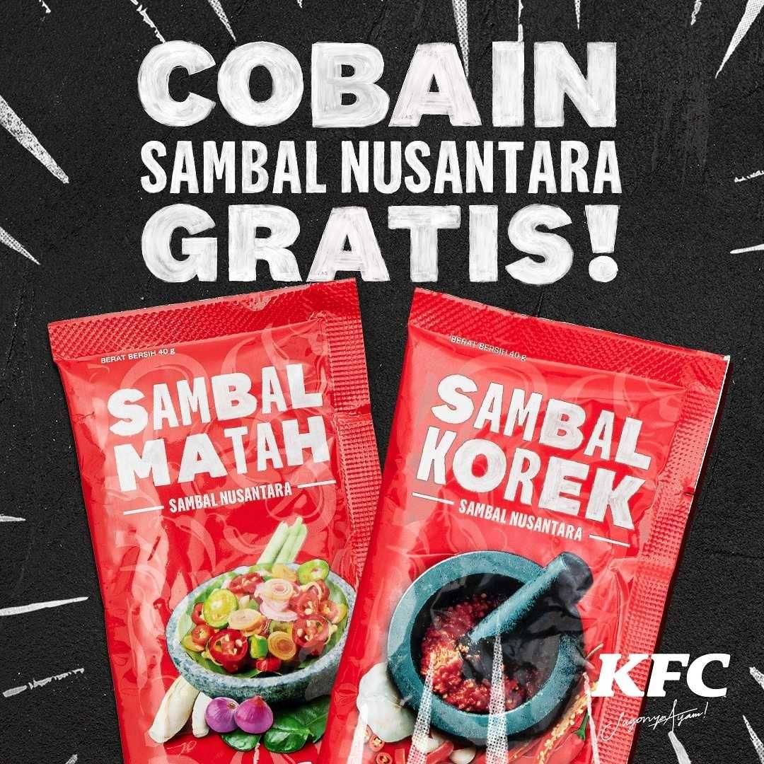 Promo diskon KFC Promo Beli Super Besar 2 Gratis 1 Sambal Nusantara