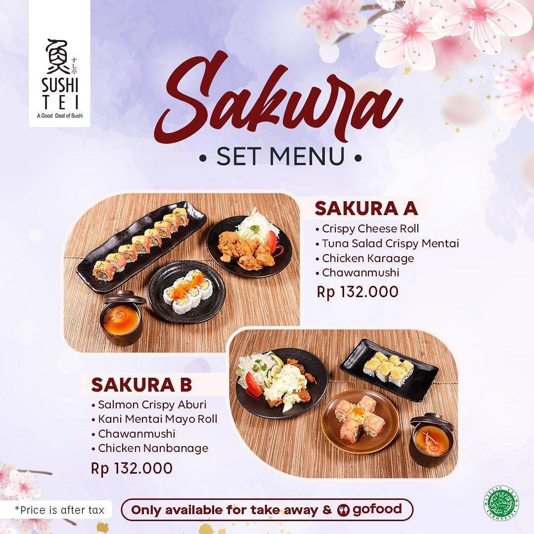 Diskon Sushi Tei Promo Sakura Set Menu Dengan GoFood