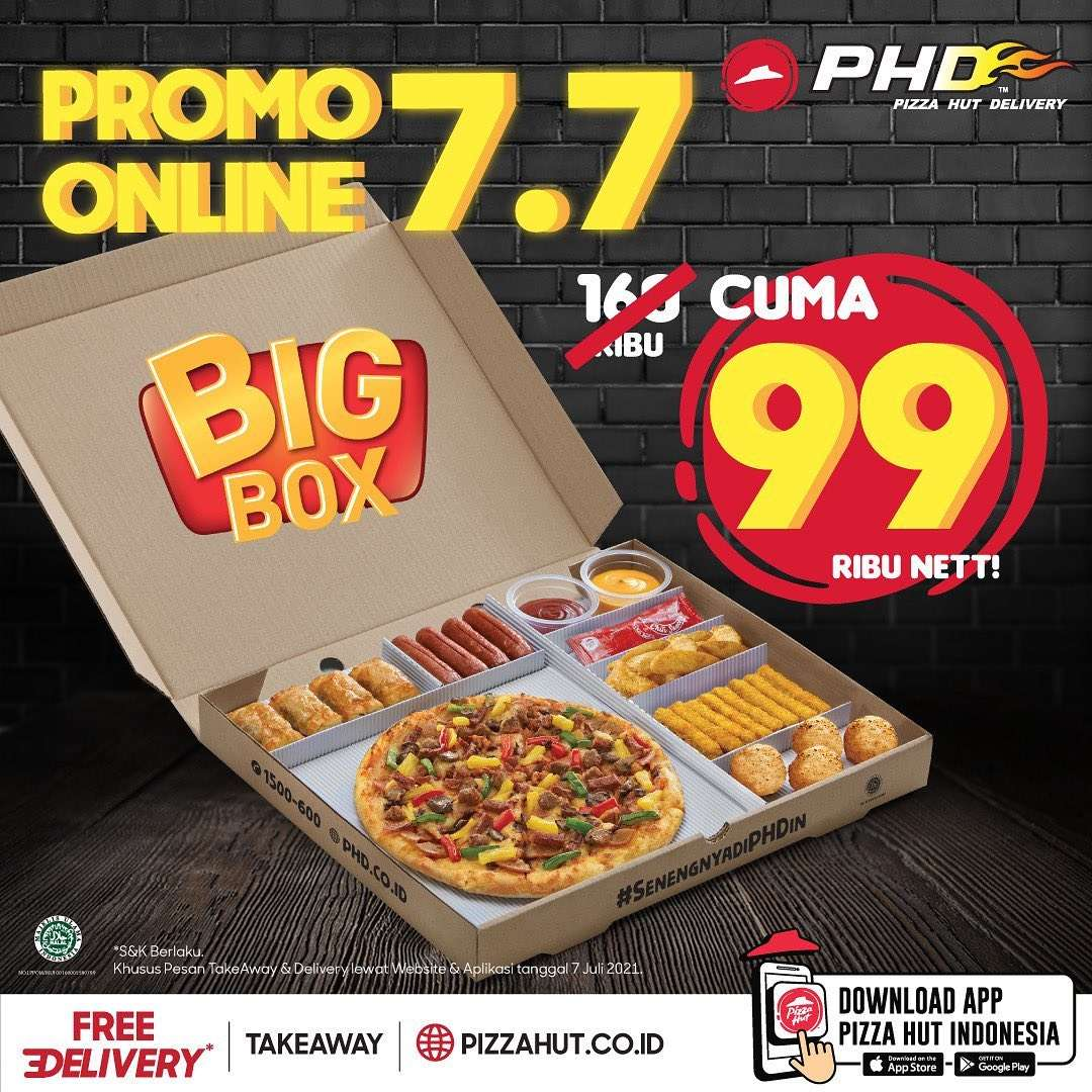 Diskon PHD Promo Online 7.7 Big Box Hanya Rp. 99.000