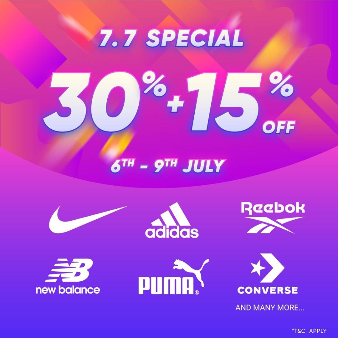 Diskon Planet Sports 7.7 Special Discount 30% + 15% Off