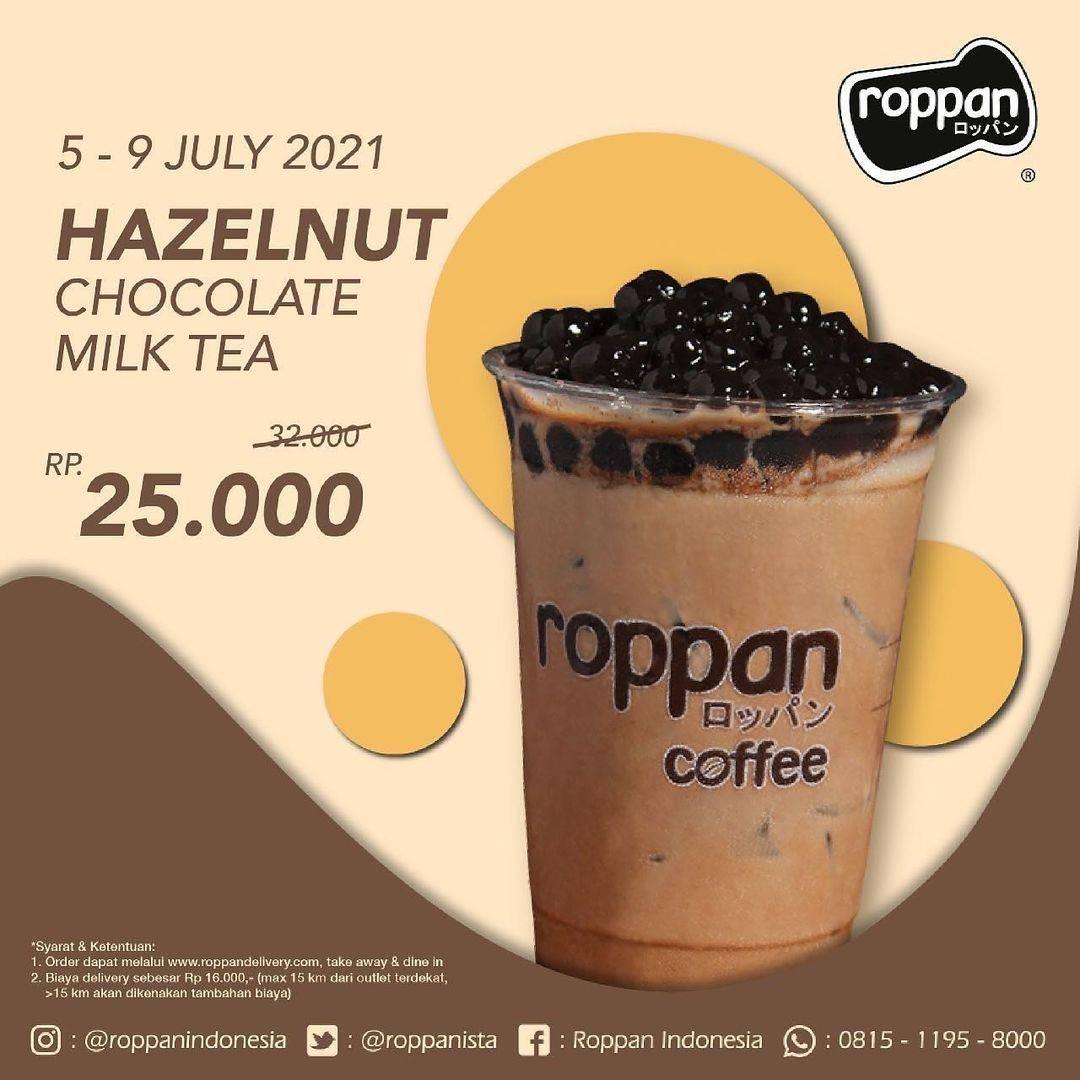 Diskon Roppan Promo Hazelnut Chocolate Milk Tea, Spicy Beef Ramen + Tea Mulai Dari Rp. 25.000