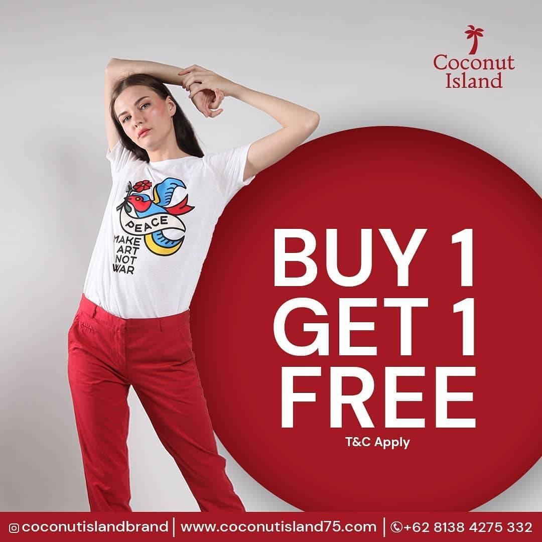Diskon Coconut Island Special Promo Buy 1 Get 1 Free