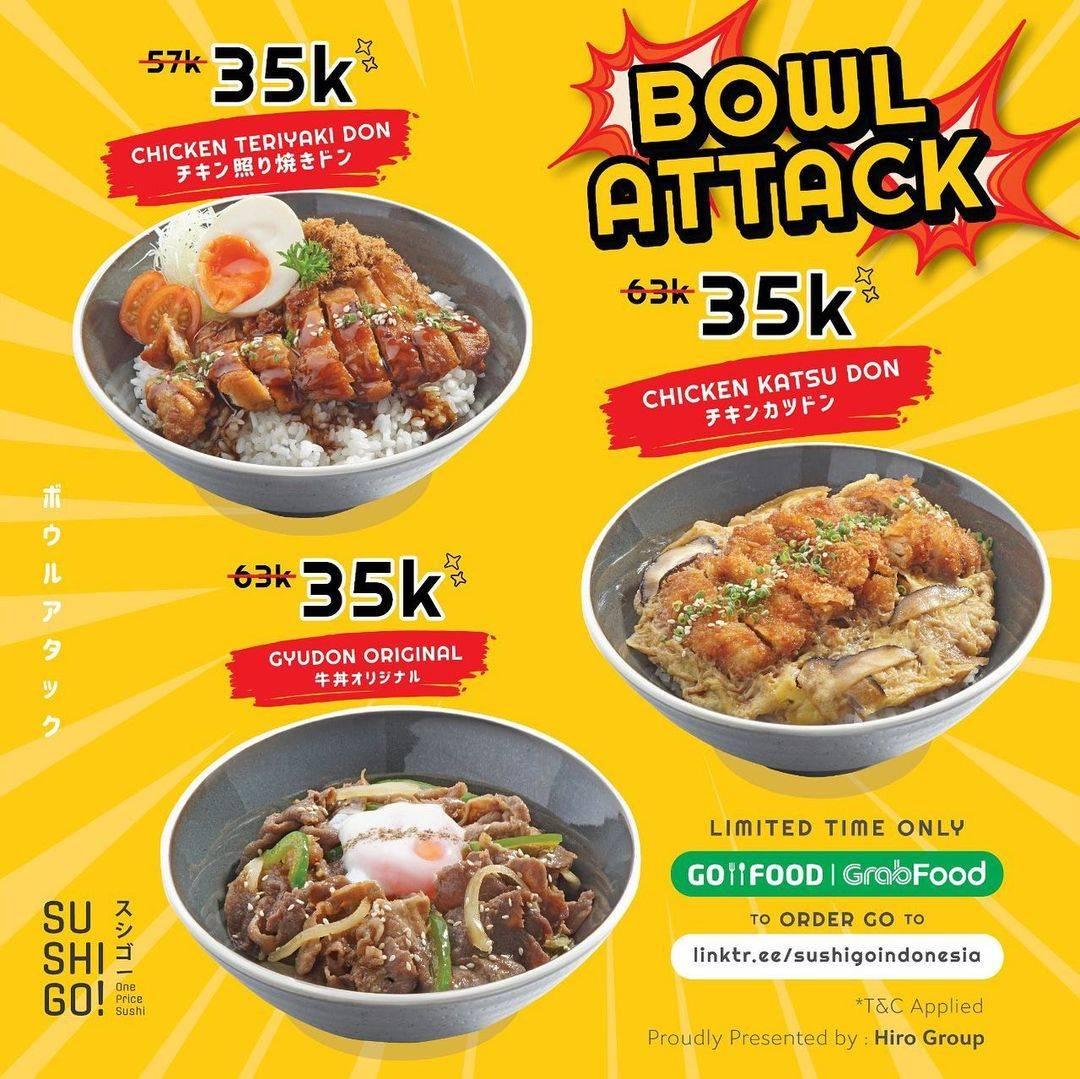 Diskon Sushi Go! Promo Bowl Attack Hanya Rp. 35.000