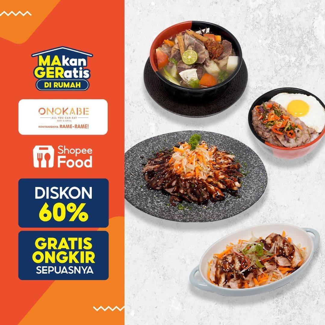 Diskon Onokabe Diskon 60% Dengan ShopeeFood