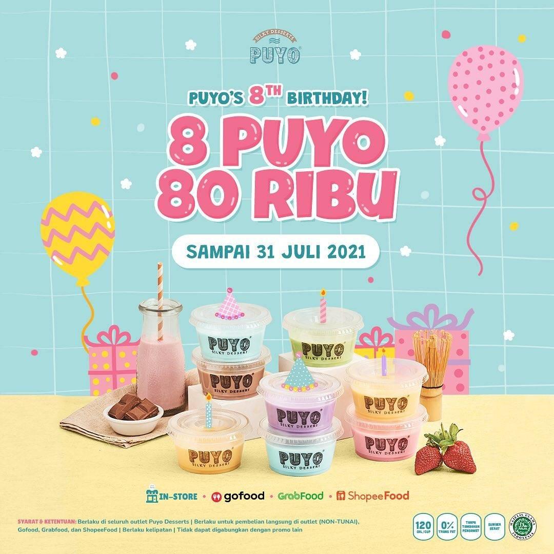 Diskon Puyo 8th Birthday Promo 8 Puyo Hanya Rp. 80.000