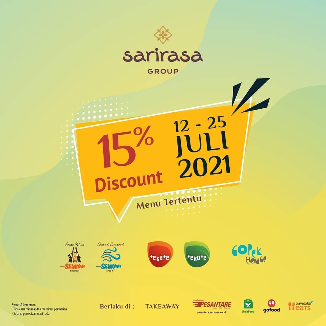 Diskon Sari Rasa Group Discount 15% Off