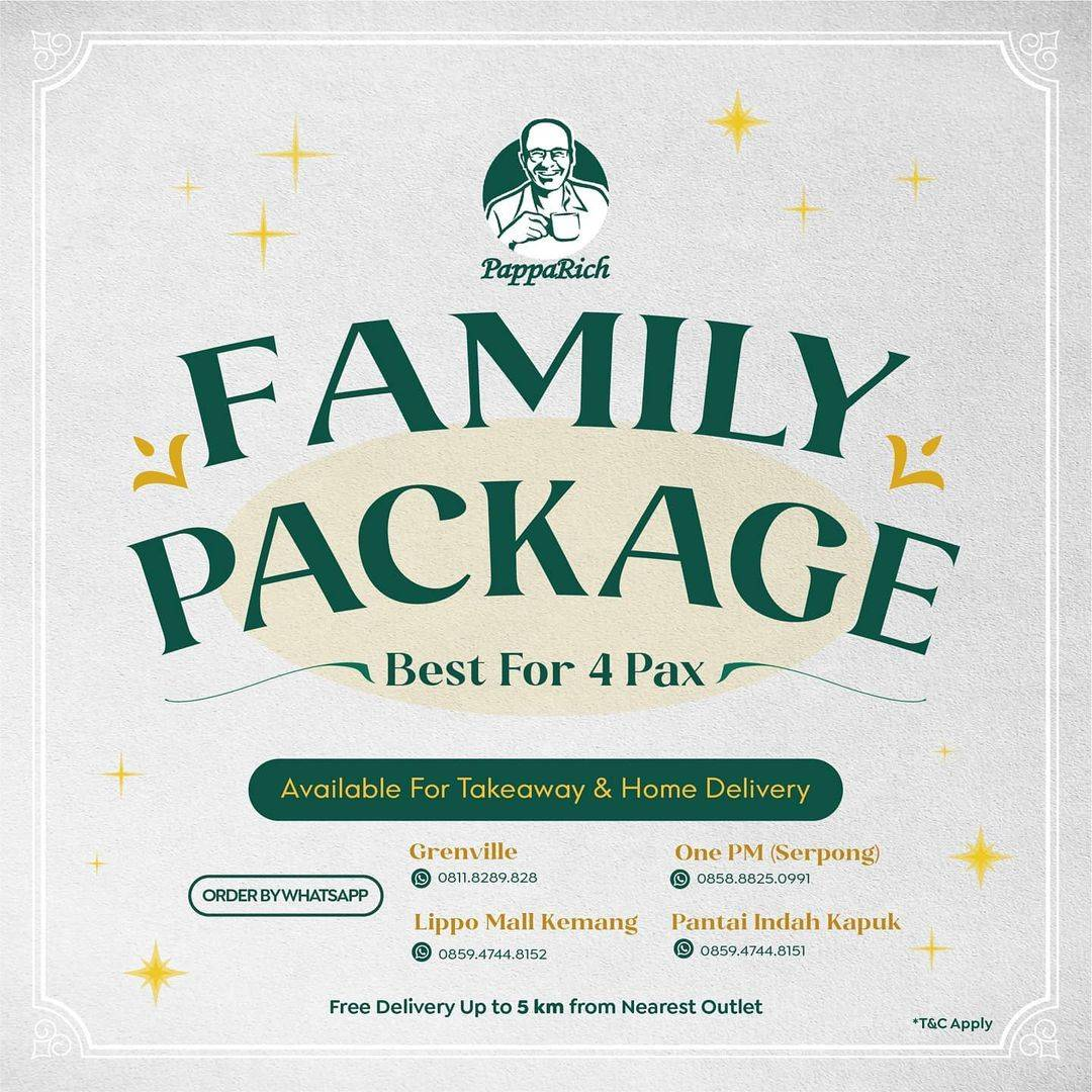 Diskon Papparich Promo Family Package Best For 4 Pax