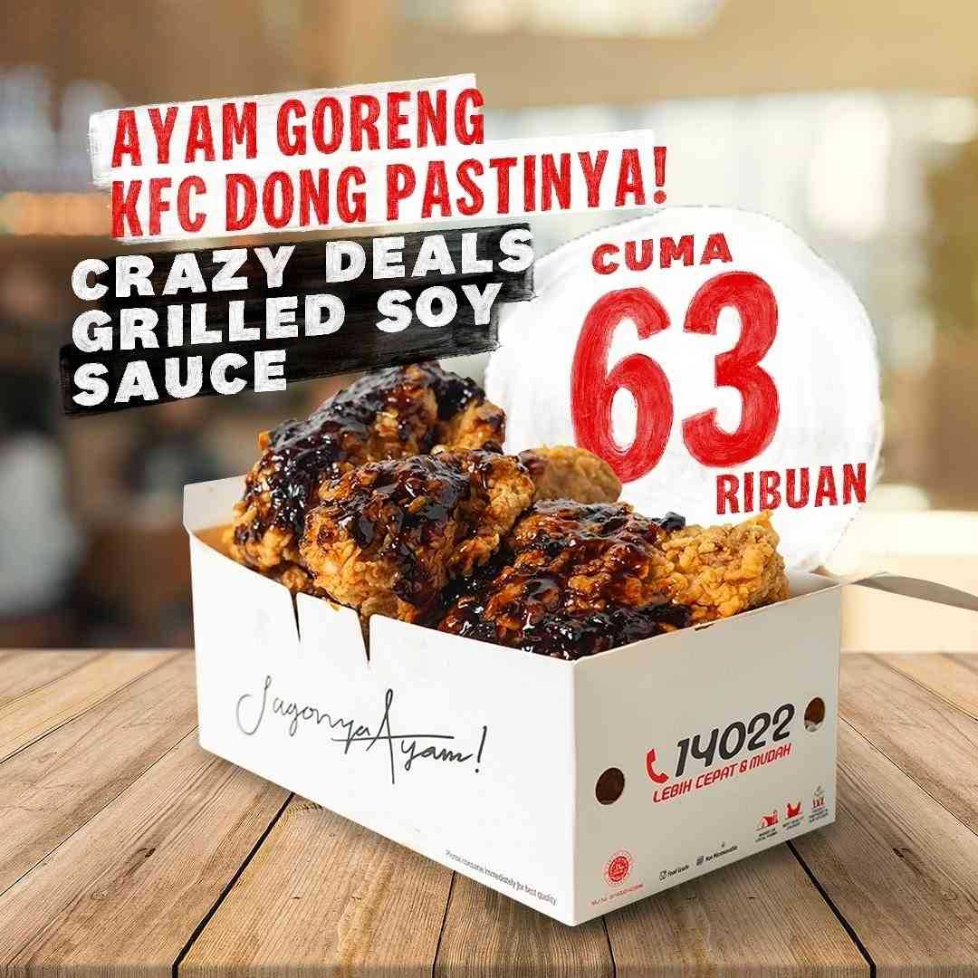 Diskon KFC Promo Crazy Deals Grilled Soy Sauce Cuma Rp. 63Ribuan