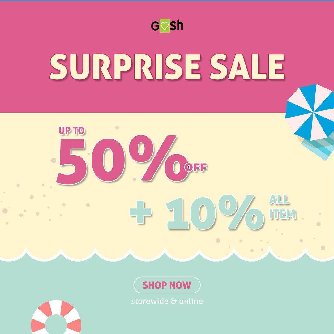 Diskon Gosh Surprise Sale Up To 50% + 10% Off On All Item
