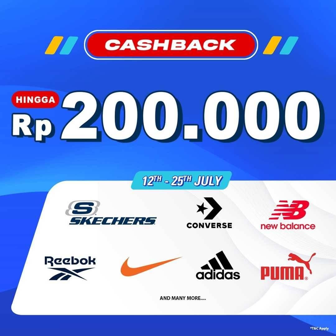 Diskon Planet Sports Asia Cashback Hingga Rp. 200.000