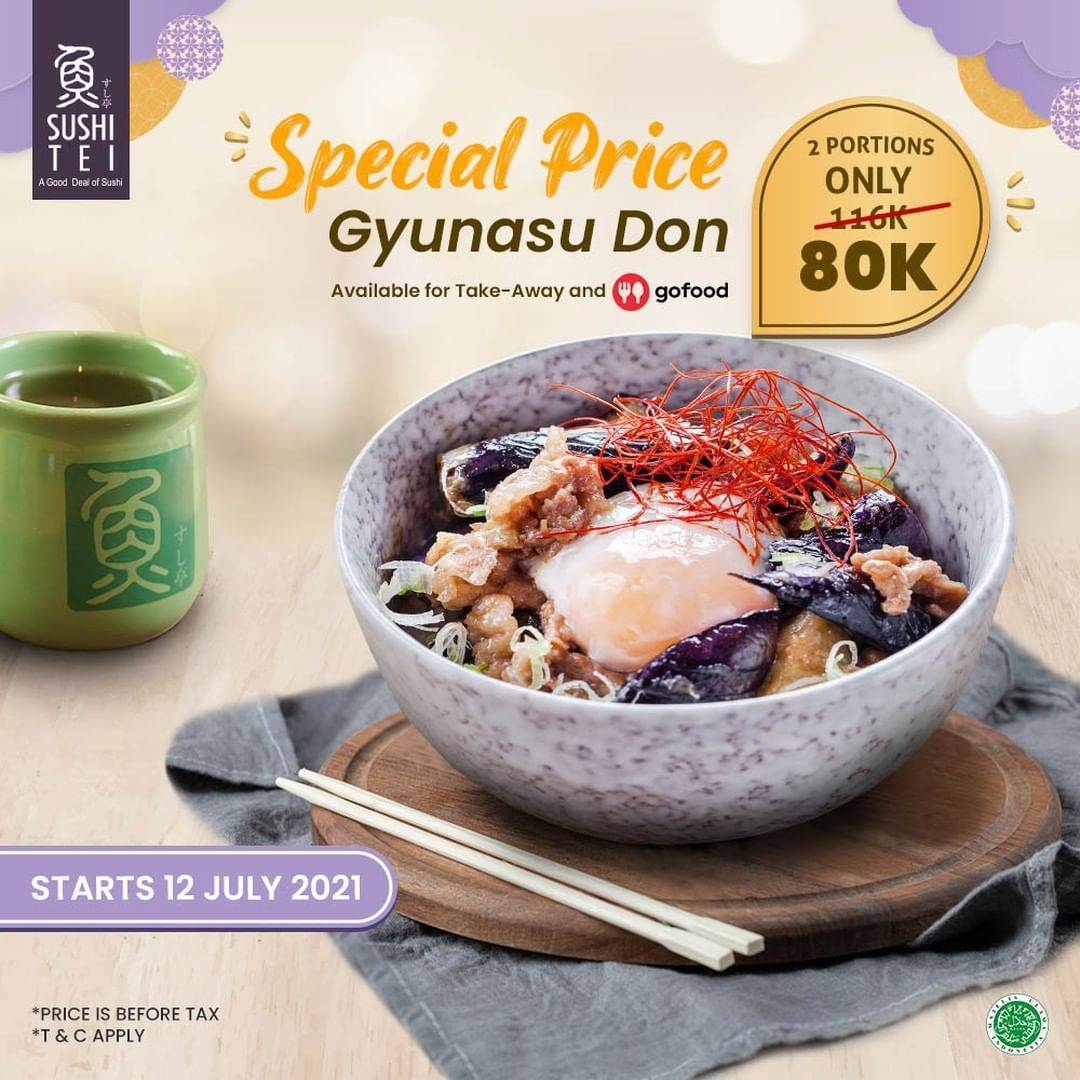 Diskon Sushi Tei Special Price 2 Gyunasu Don Only For Rp. 80.000 On GoFood