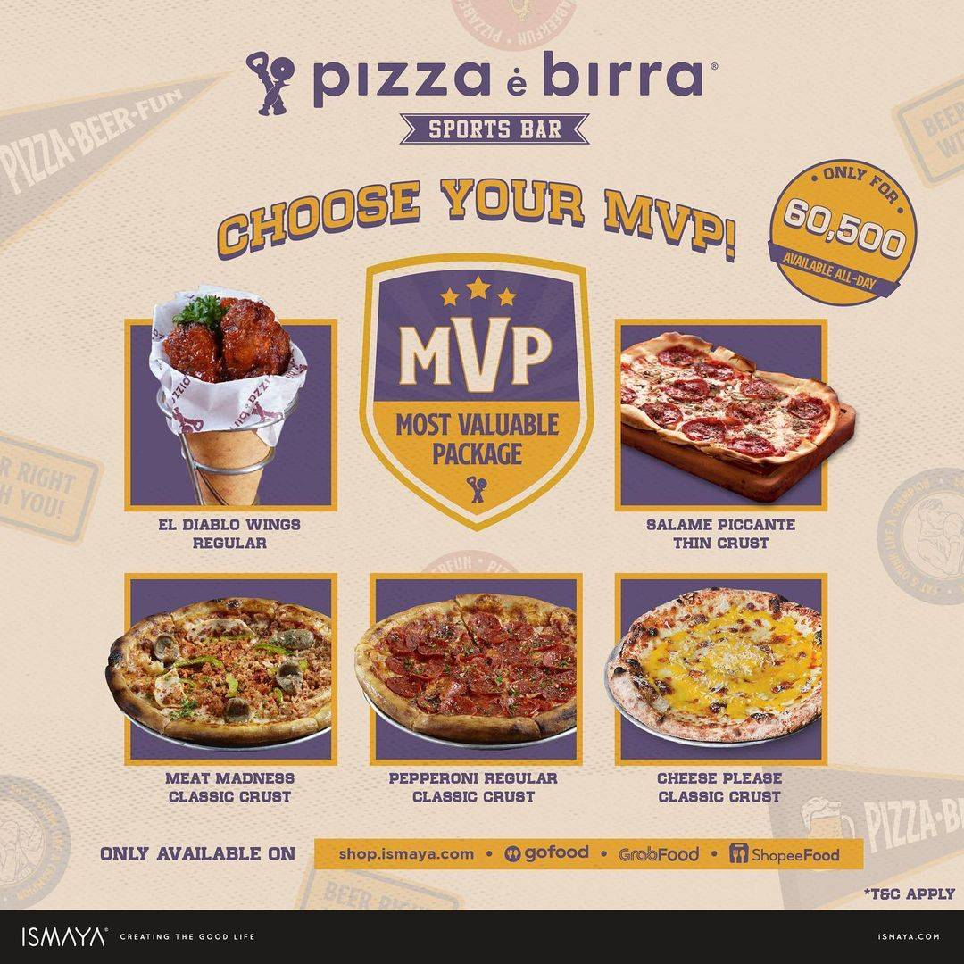 Diskon Pizza e Birra Promo Most Valuable Package Only For Rp. 60.500