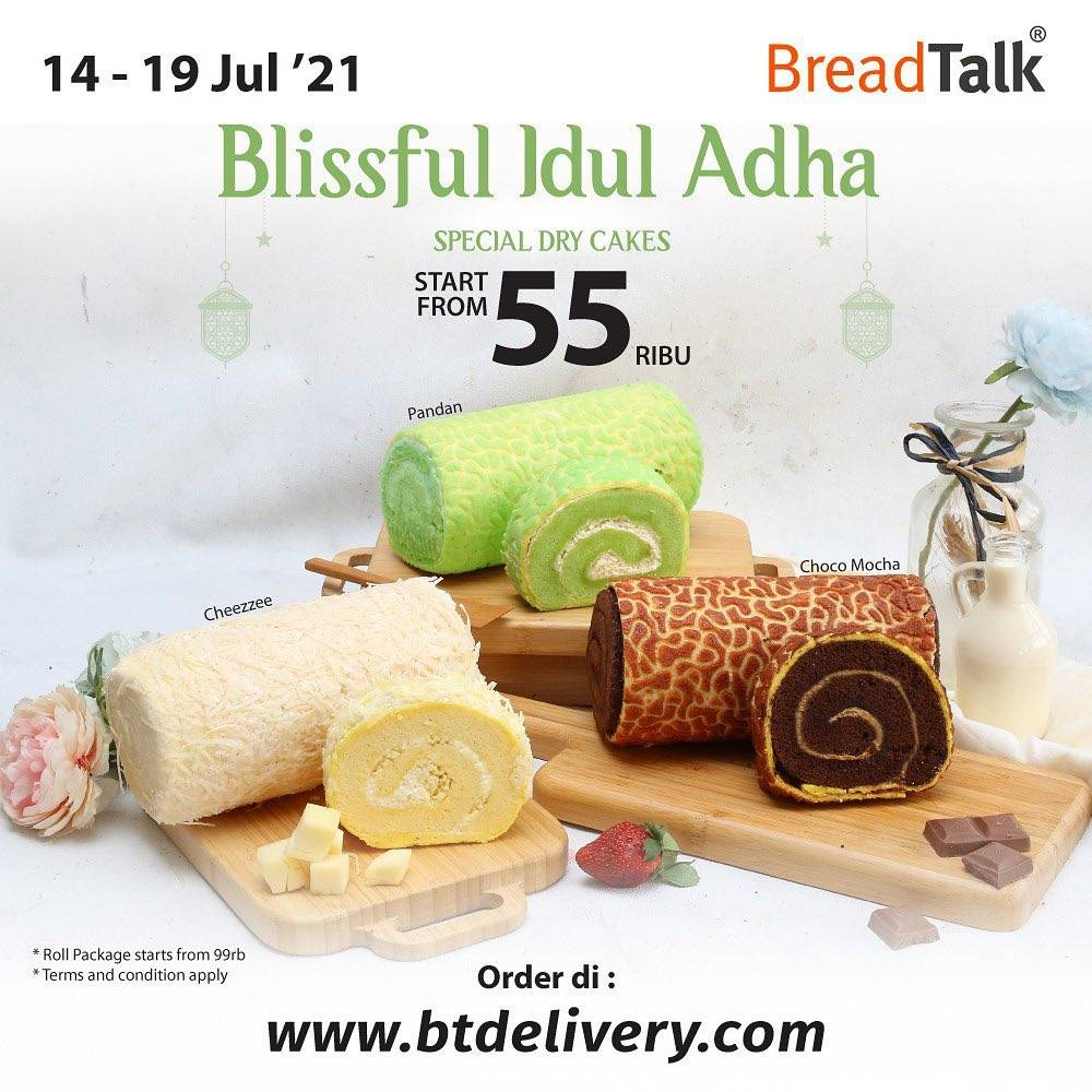 Diskon Bread Talk Promo Blissful Idul Adha Special Dry Cakes Mulai Dari Rp. 55.000