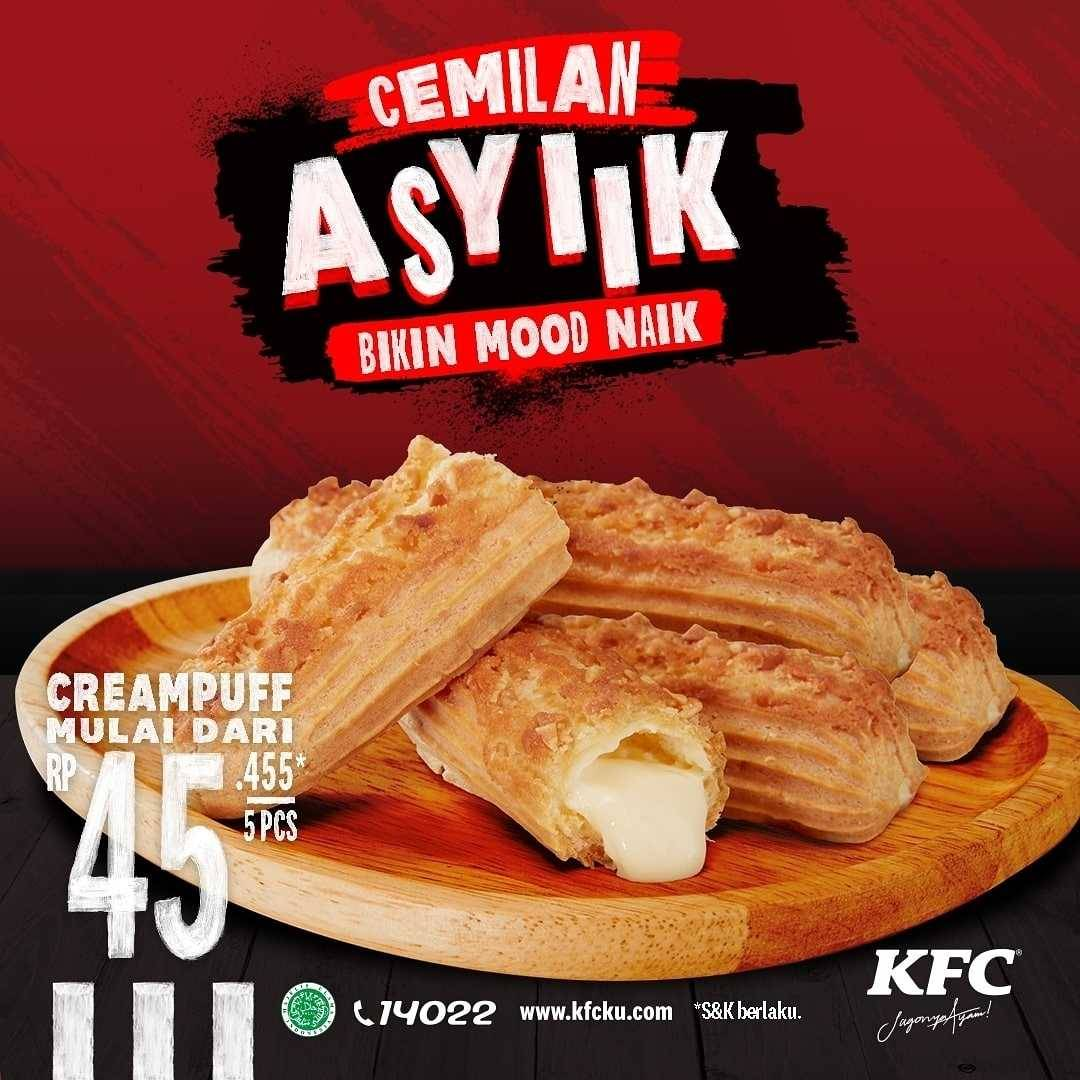 Promo diskon KFC Promo Cemilan Mulai Dari Rp. 40.909
