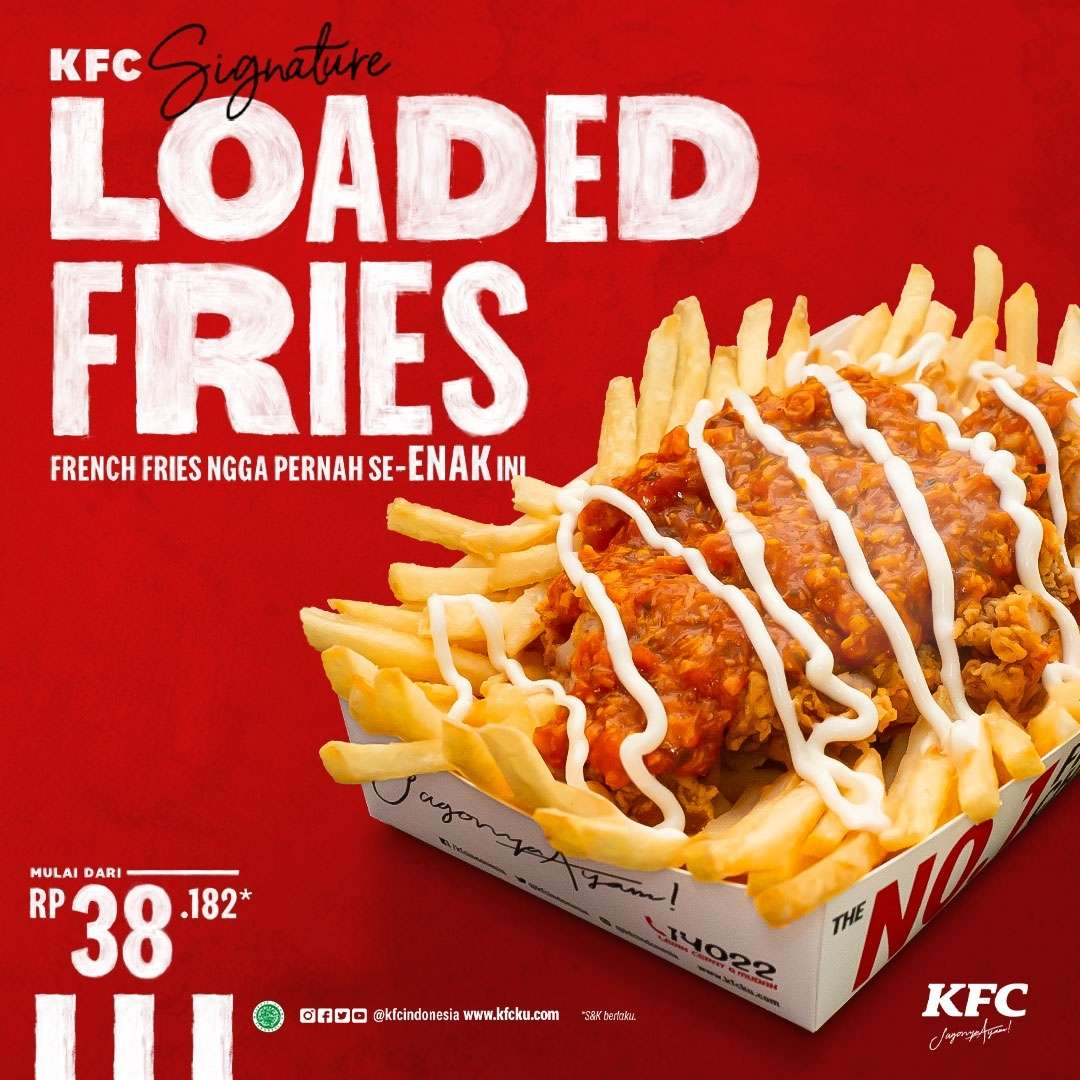 Diskon KFC Promo KFC Signature Loaded Fries Mulai Dari Rp. 38.182