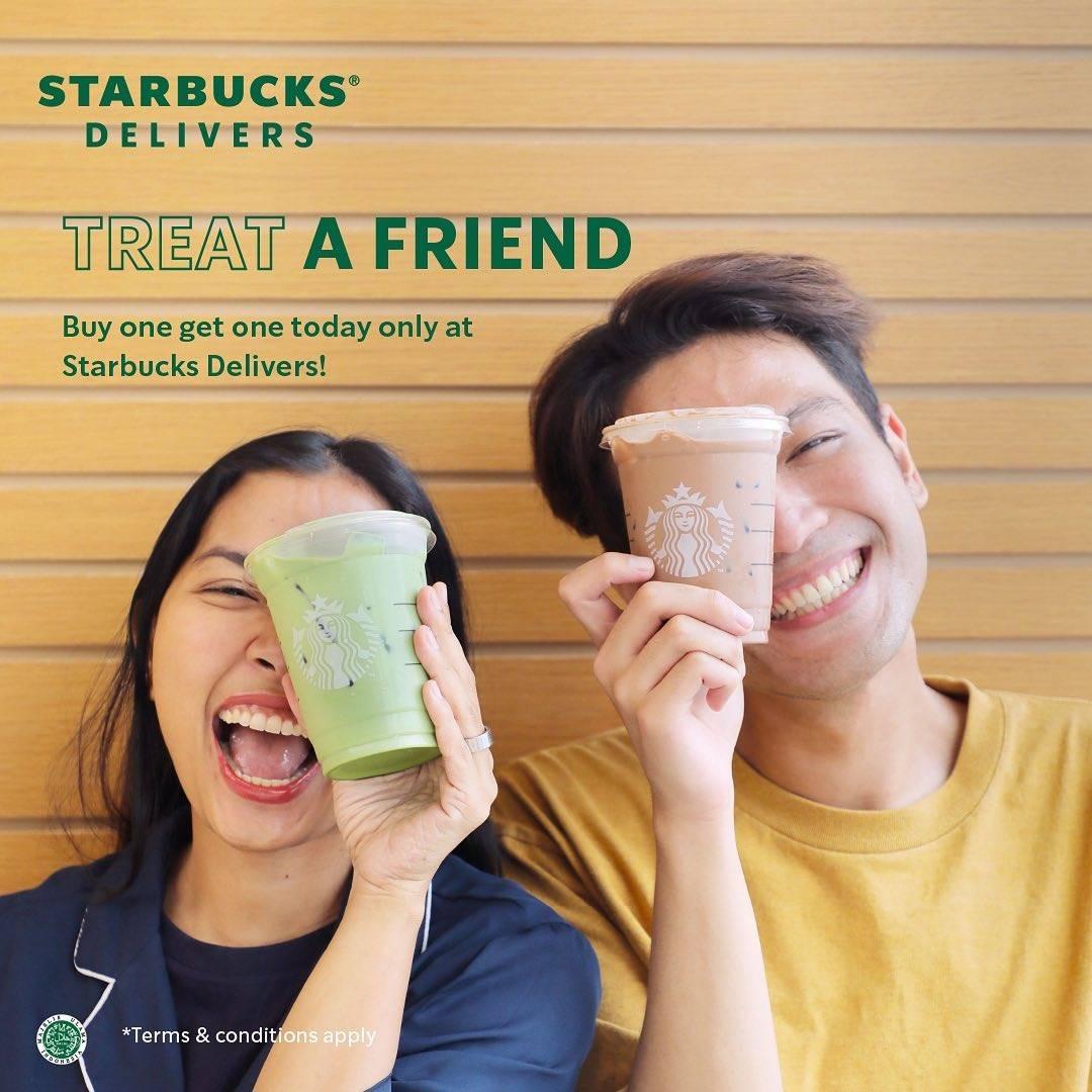 Diskon Starbucks Promo Treat A Friend and Tumbler Day
