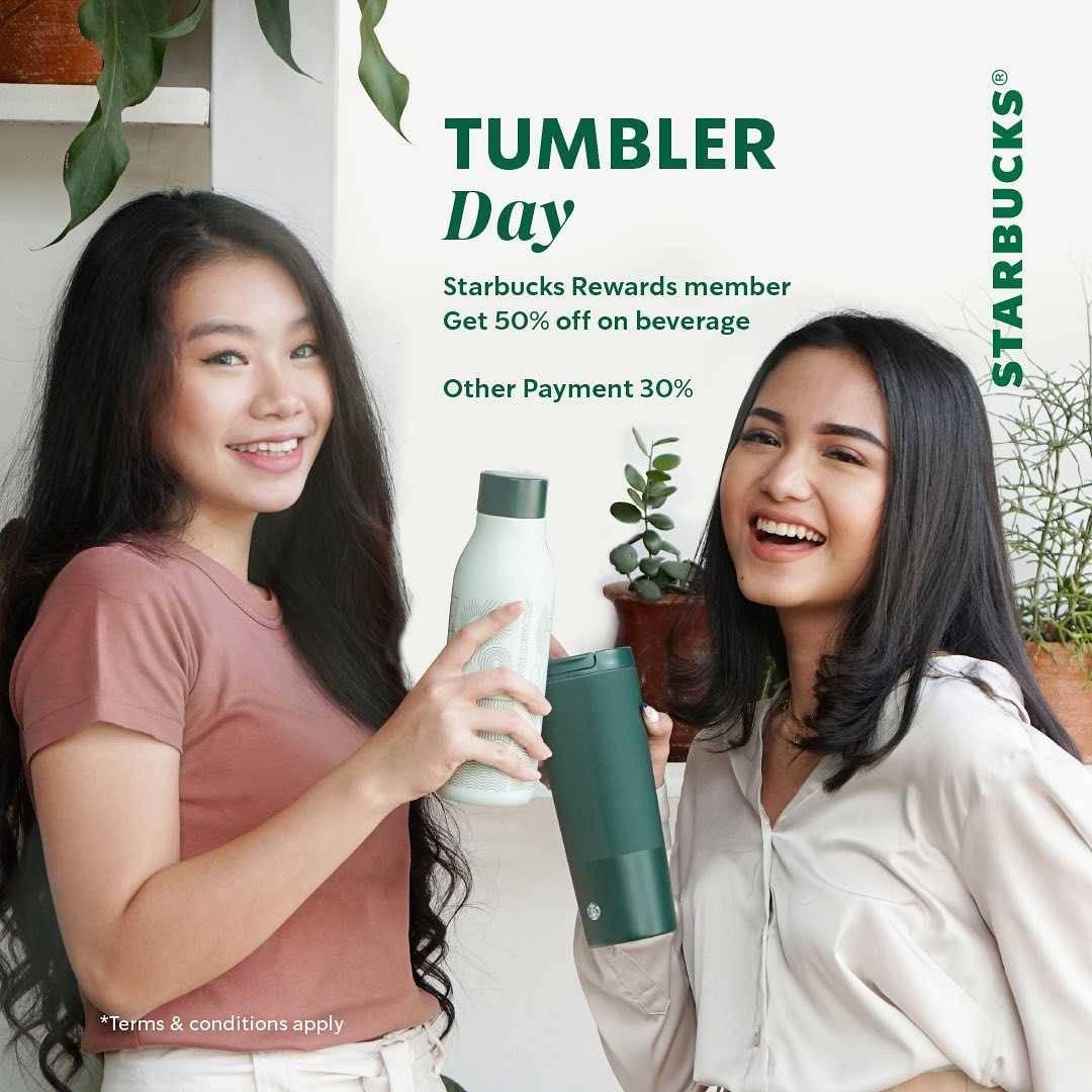 Promo diskon Starbucks Promo Treat A Friend and Tumbler Day