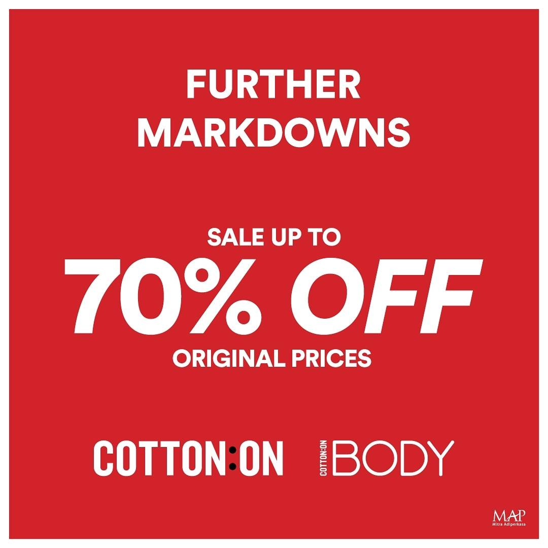 Diskon Cotton On Sale Up To 70% Off