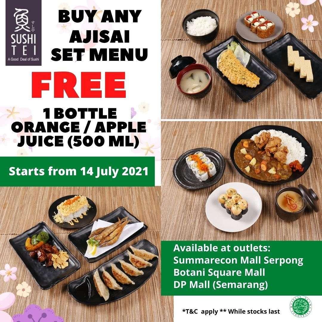 Diskon Sushi Tei Buy Any Ajisai Set Menu Get Free Juice