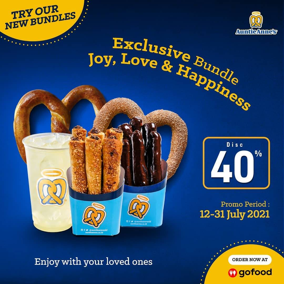 Diskon Auntie Anne's Discount 40% Off On GoFood