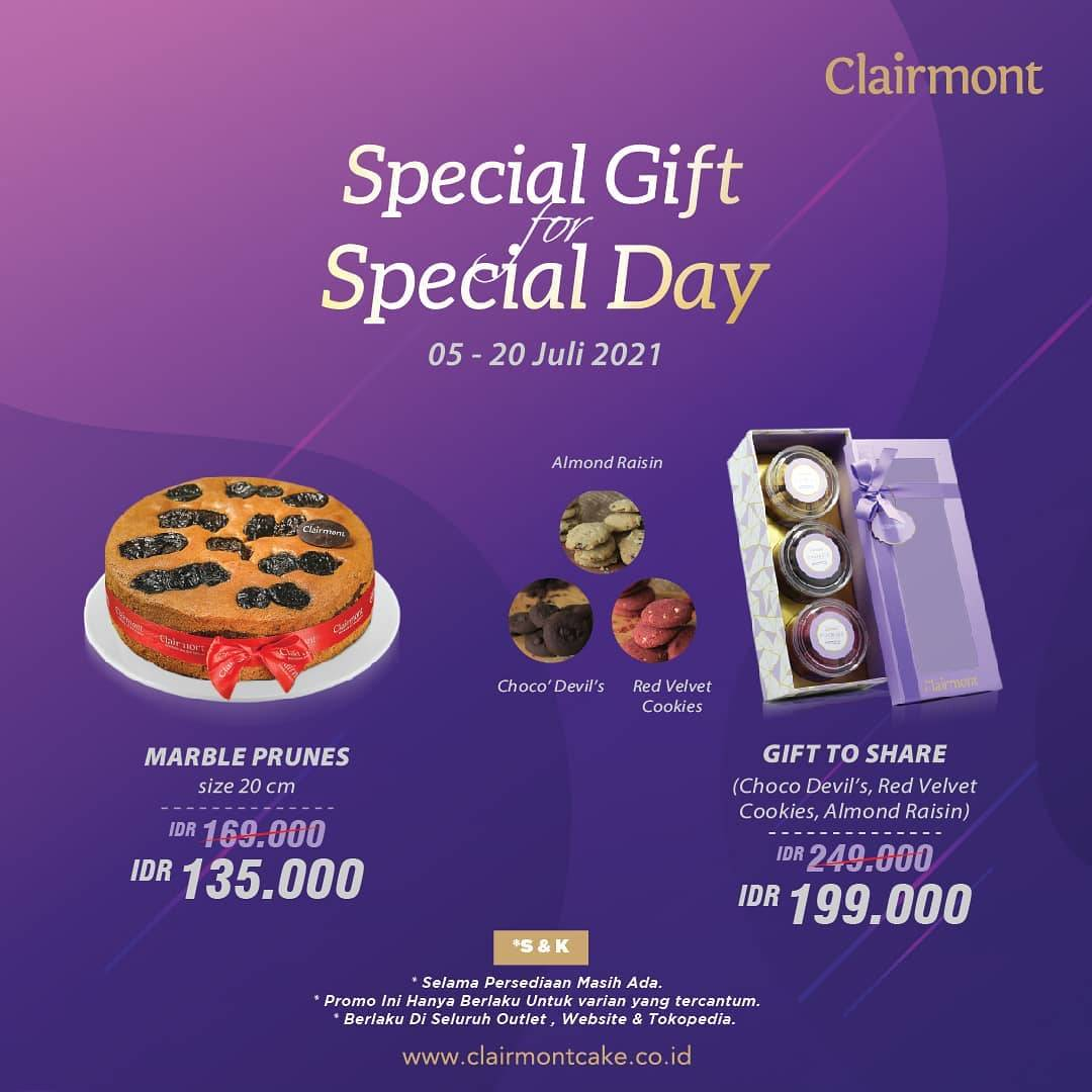 Diskon Clairmont Patisserie Promo Gift To Share Hanya Rp. 199.000