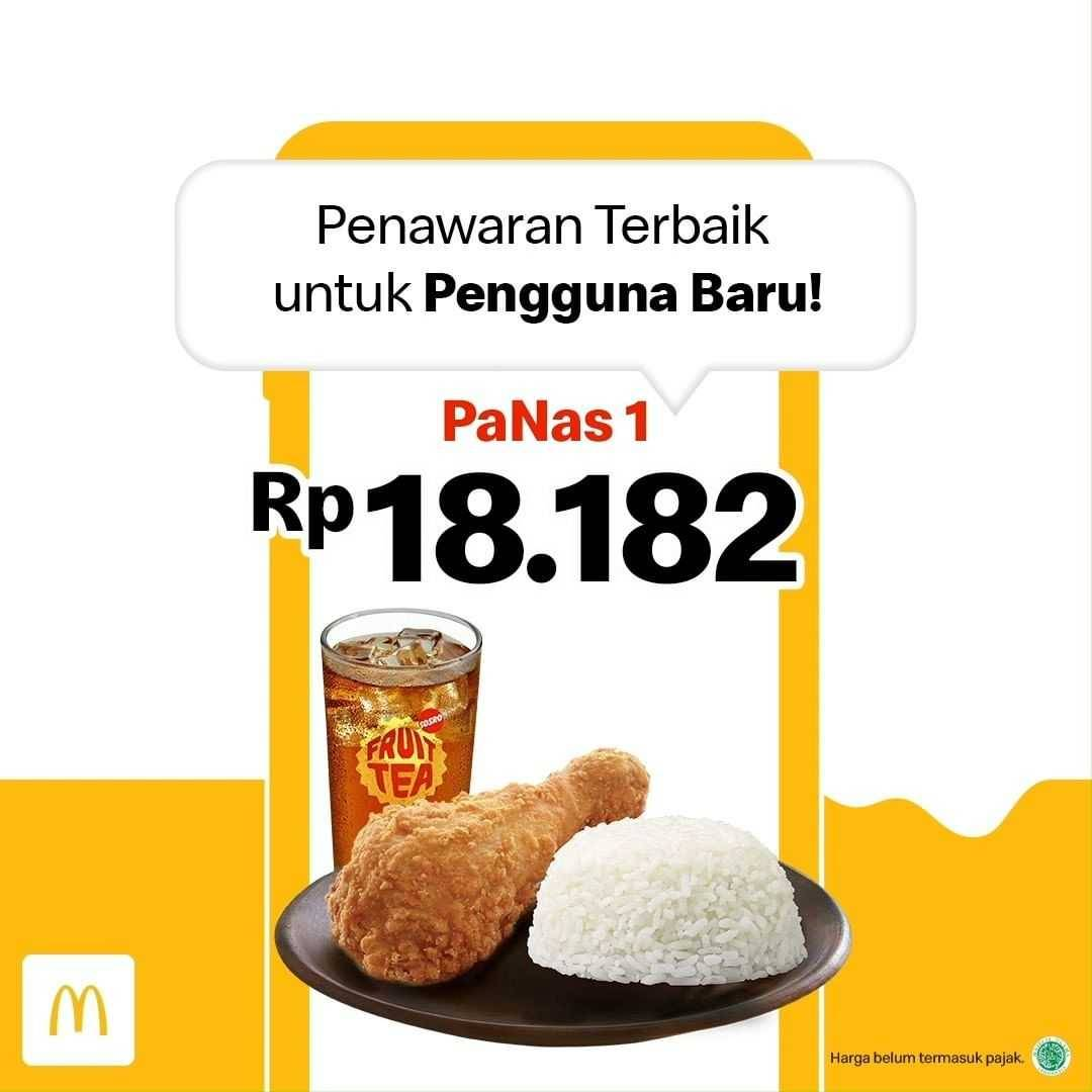 Diskon McDonalds Promo PaNas 1 Hanya Rp. 18.182 Untuk Pengguna Baru Aplikasi