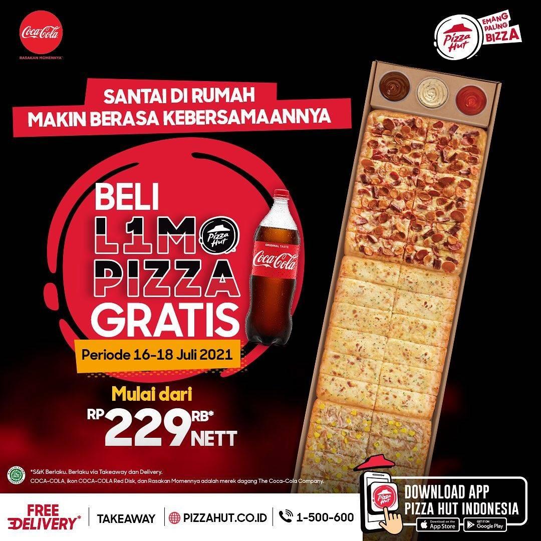 Diskon Pizza Hut Beli 1 L1MO Pizza Gratis Coca Cola