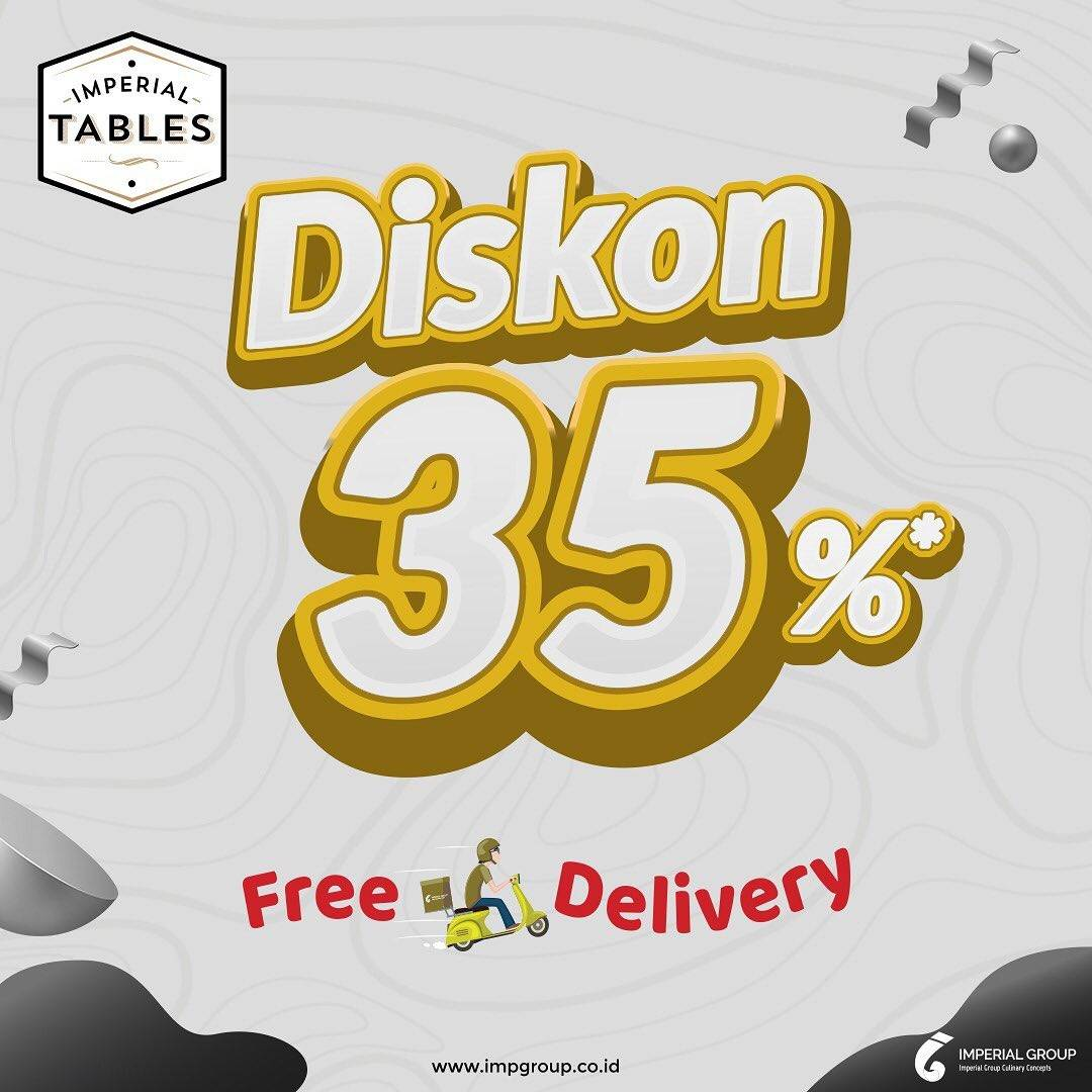 Diskon Imperial Tables Diskon 35% + Free Delivery