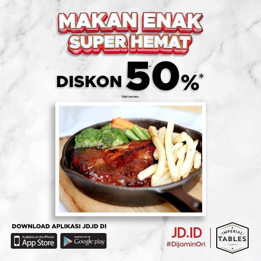 Promo diskon Imperial Tables Discount 50% Off On JD.ID