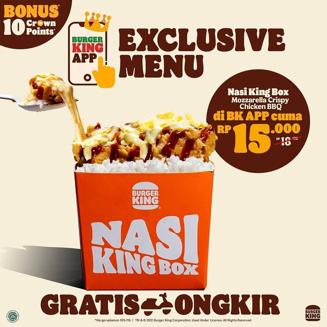 Diskon Burger King Promo Exclusive Menu On Burger King App