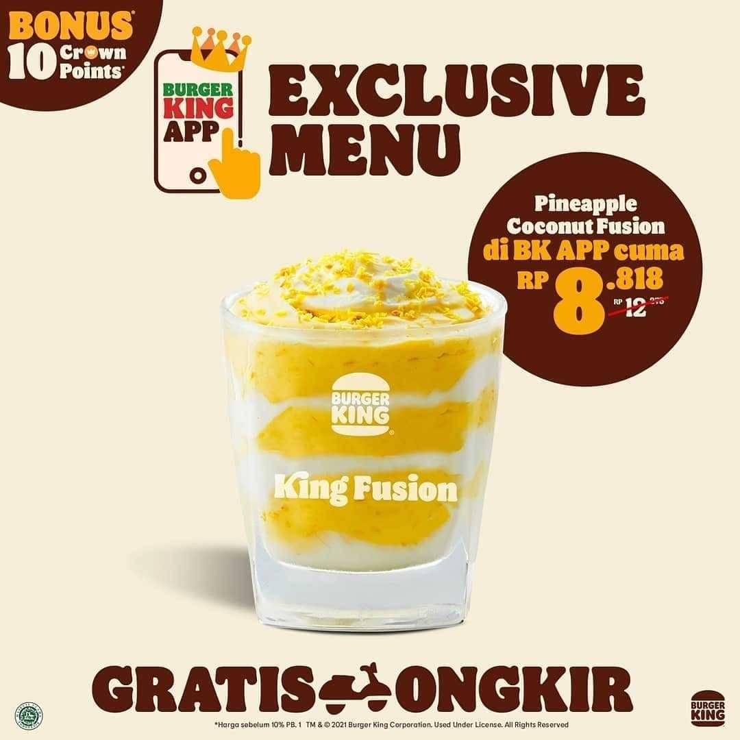 Promo diskon Burger King Promo Exclusive Menu On Burger King App